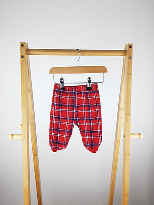 George tartan pyjama bottoms 3-6 months
