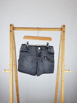 River Island black denim shorts 5-6 years