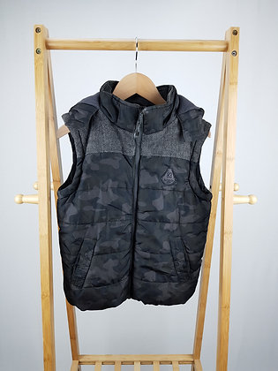 F&F camouflage padded vest with hood 9-10 years