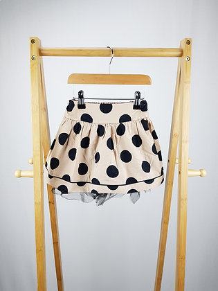 Next beige spotted skirt 3-4 years