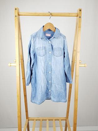 Next long sleeve denim shirt dress 5 years