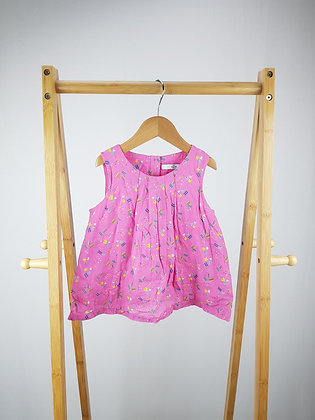 M&S pink patterned top 3-4 years
