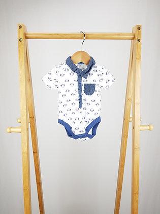 George monkey short sleeve polo bodysuit 3-6 months
