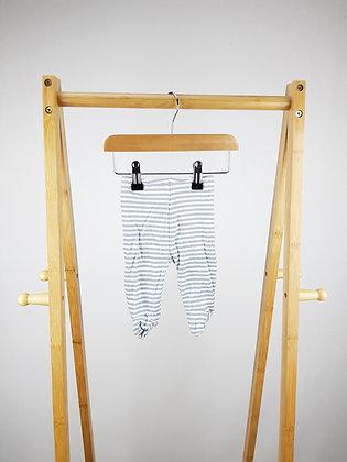 Matalan striped bottoms with closed feet newborn