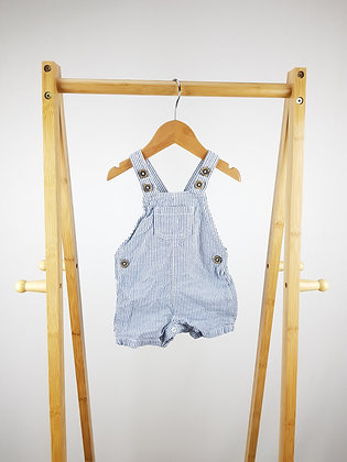 F&F short striped dungarees 3-6 months