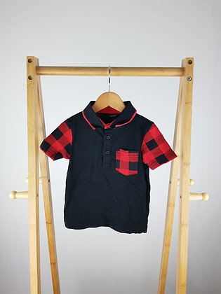 George checked pocket polo shirt 18-24 months