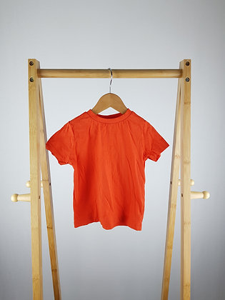 F&F orange t-shirt 12-18 months