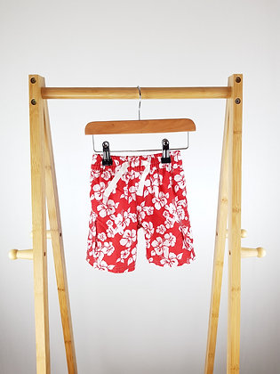 Miniclub floral shorts 12-18 months