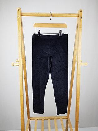F&F black velvet leggings 8-9 years