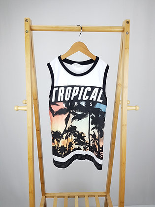 H&M tropical vibes vest top  8-10 years