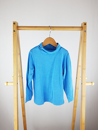 Crane blue long sleeve roll neck top 3-4 years
