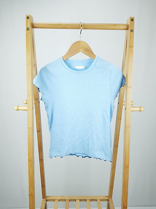 M&S blue ribbed t-shirt 10-11 years