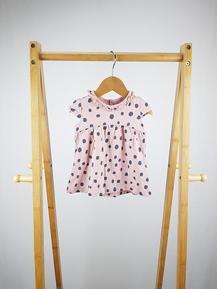 George spotted dress 0-3 months