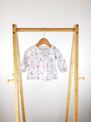 M&S floral long sleeve top 0-3 months