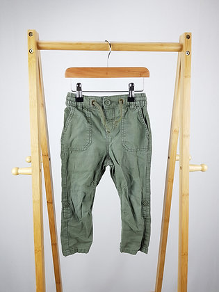 George khaki linen mix trousers 2-3 years