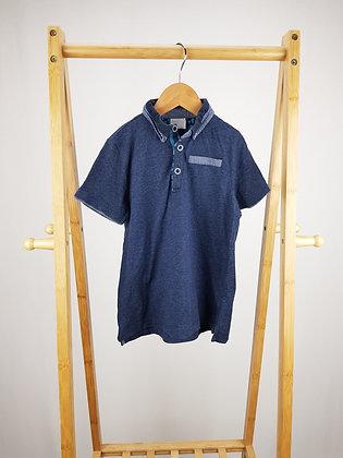 F&F blue polo shirt 6-7 years