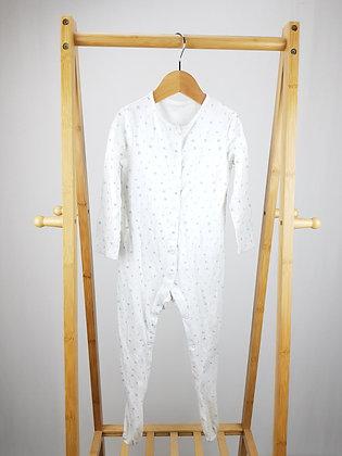 F&F white sleepsuit 18-24 months