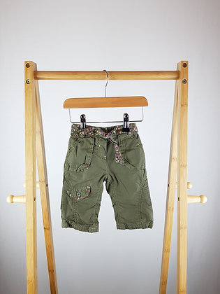 Mothercare khaki lined trousers 3-6 months