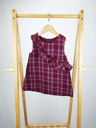 Matalan checked corduroy dress 12-18 months