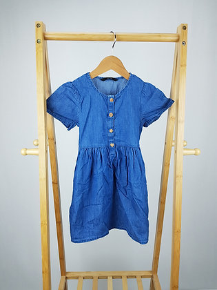 George buttoned denim dress 4-5 years