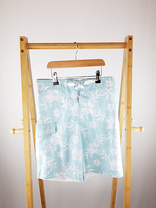Ocean pacific blue floral shorts 11-12 years