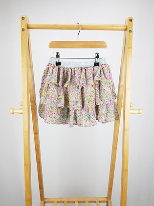 H&M floral tiered skirt 4-6 years