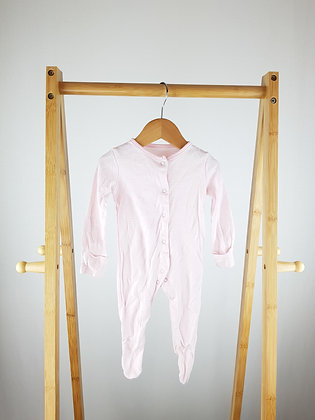F&F pink striped sleepsuit 3-6 months