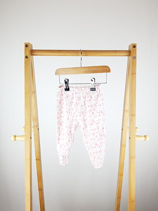 Babies R Us bird print bottoms with closed feet 3-6 months