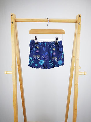 M&S mermaid shorts 18-24 months