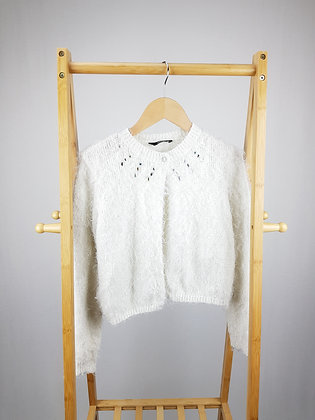 George white fluffy knitted cardigan 12-13 years
