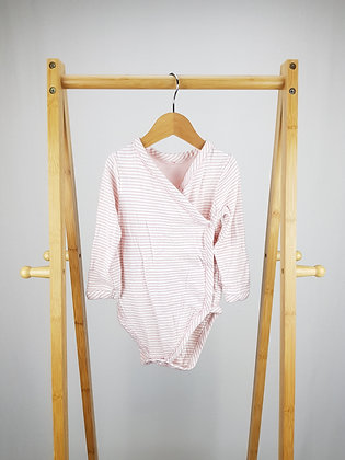 M&S long sleeve wrap around bodysuit 18-24 months