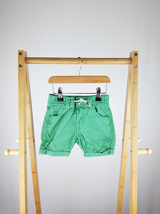 Pep&Co green shorts 3-4 years
