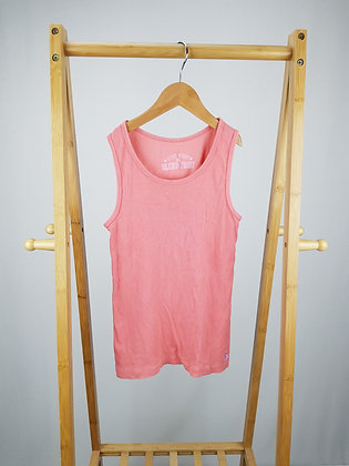 M&S pink ribbed vest top 9-10 years
