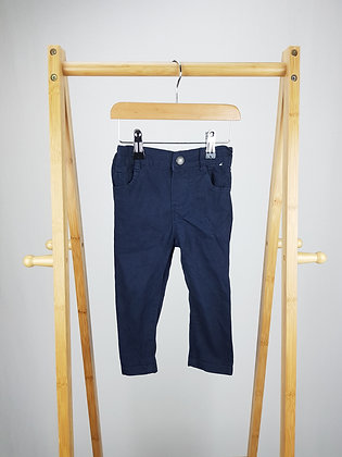 Denim Co navy trousers 12-18 months
