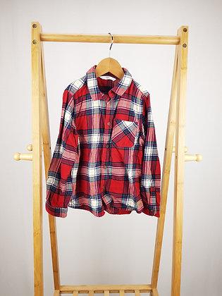 M&S red tartan shirt 6-7 years