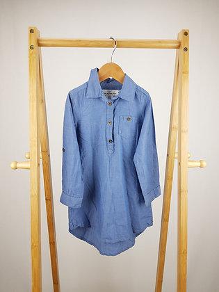 H&M long sleeve denim shirt dress 2-3 years