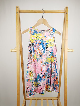 George abstract patterned dress 9-10 years