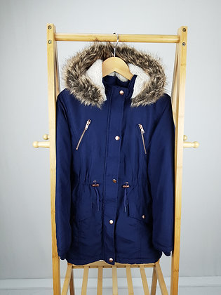 George navy coat 11-12 years