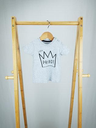 Matalan little prince t-shirt 3-6 months