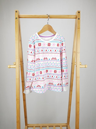 M&S long sleeve pyjama top 6-7 years
