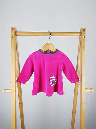 Offspring baby girl velour sweater 3-6 months