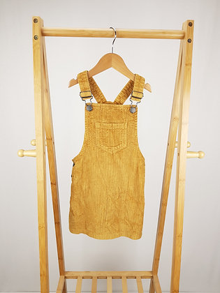 F&F mustard cord pinafore dress 5-6 years