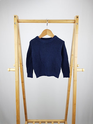 Mini Rebel navy knitted sweater 12-18 months