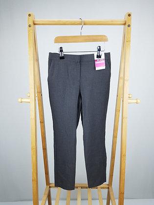 George grey slim leg school trousers 7-8 years