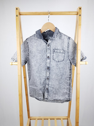 F&F short sleeve denim shirt 9-10 years