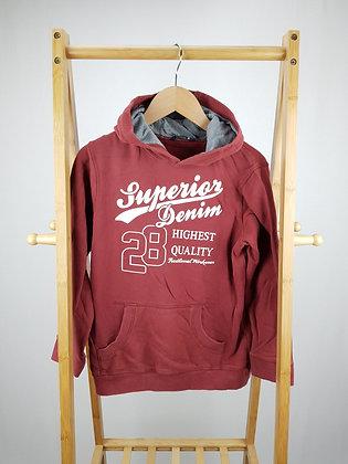 George burgundy hoodie 9-10 years