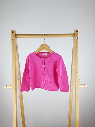 F&F pink knitted cardigan 6-9 months