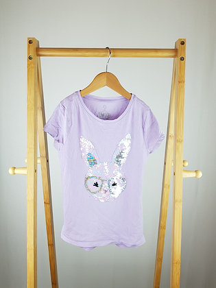 F&F flippy sequin bunny t-shirt 8-9 years
