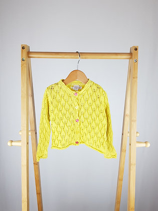 Mini club yellow knitted cardigan 12-18 months