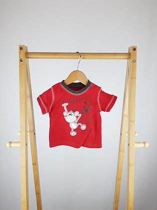 George red t-shirt 0-3 months